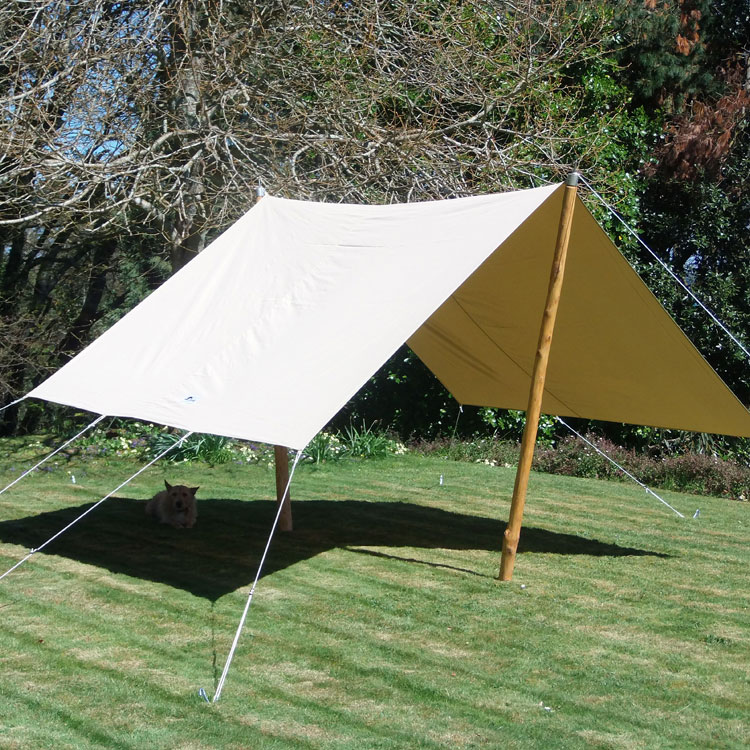 Awning canvas bell tent sun shade beach archives cool canvas tent company - Canvas canopy ...