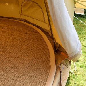 Bell tent carpet, coir matting