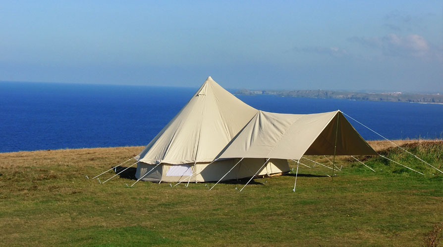 Small Awning Traditional Canvas Bell Tents