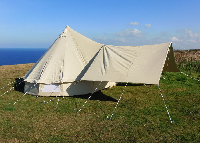 Bell tent awnings