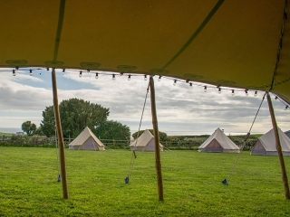 The Bell Tent. Bell tent hire Cornwall. Bell tent sales Cornwall