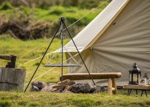 Glamping in Cornwall Bell tents. Luxury camping