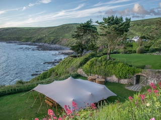 The Stretch Tent. Stretch tent hire in Cornwall. Alternative wedding marquee. Unique tent hire in Cornwall