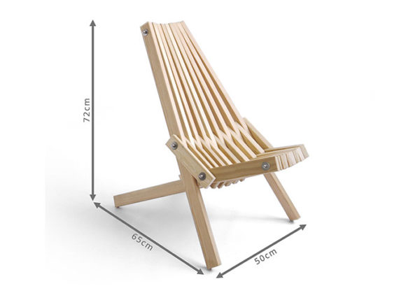 The Toby Chair Wooden camping chair