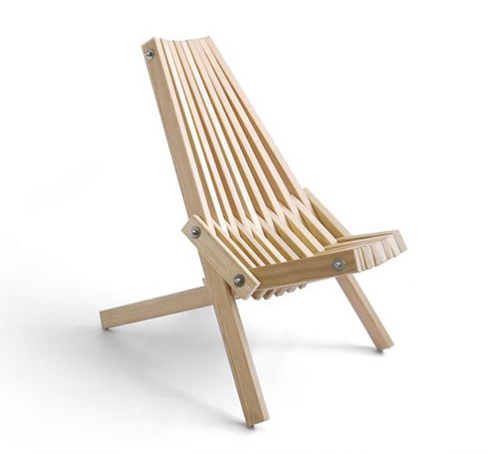 The Toby Chair. Wooden camping chair