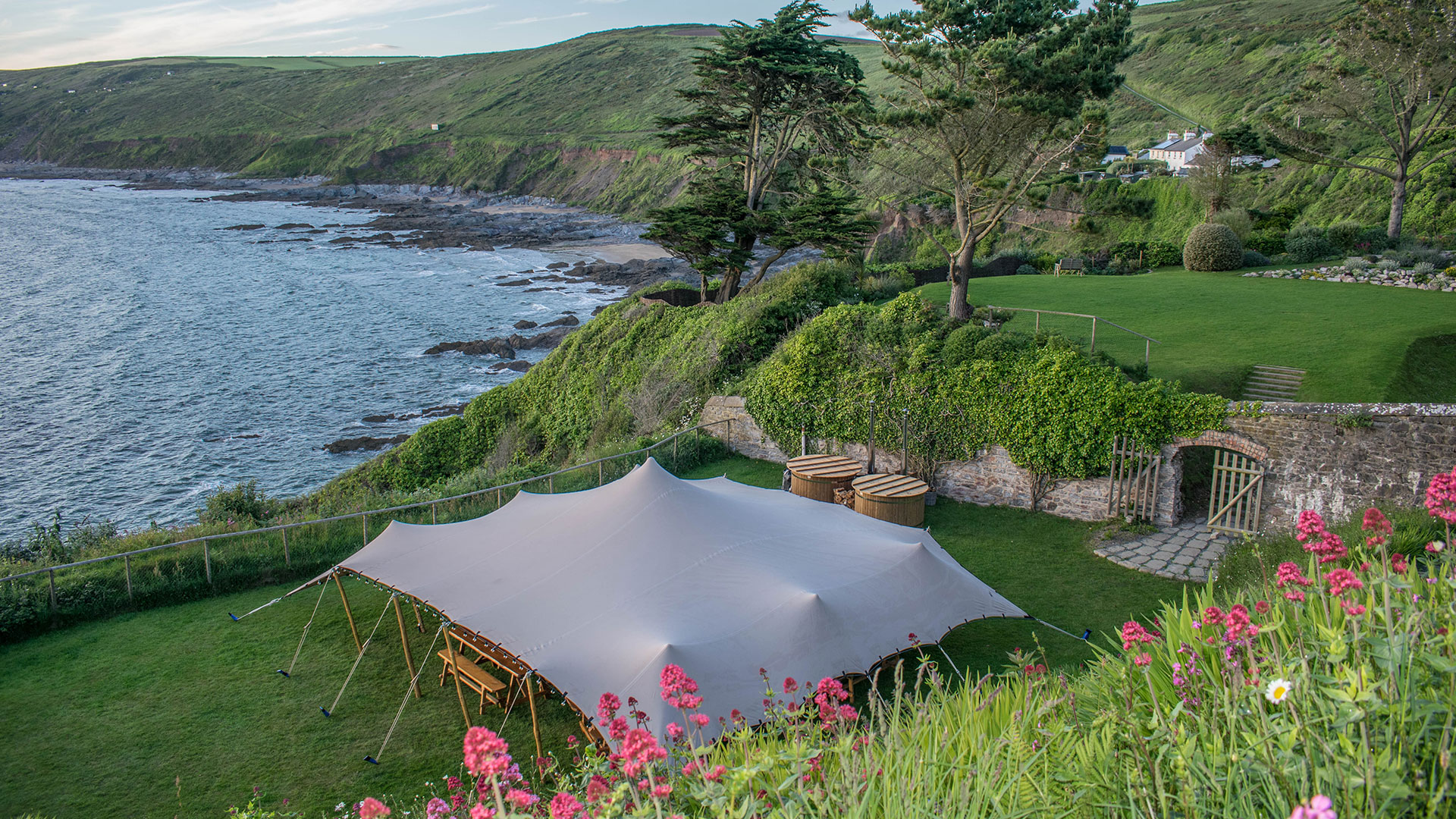 Cool Canvas Stretch Tent Hire Cornwall