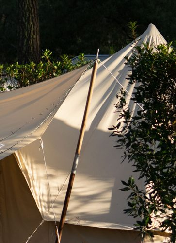 wooden tent pole