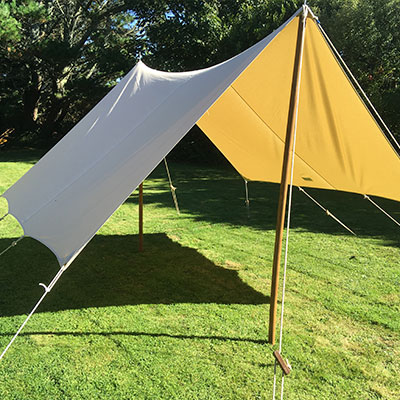 Canvas garden awning