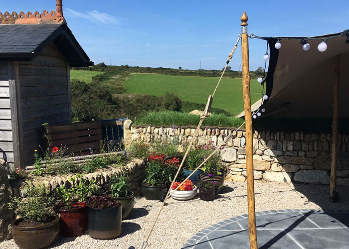 Stretch tent hire Cornwall