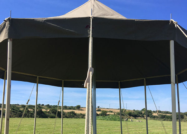 5m canvas tent